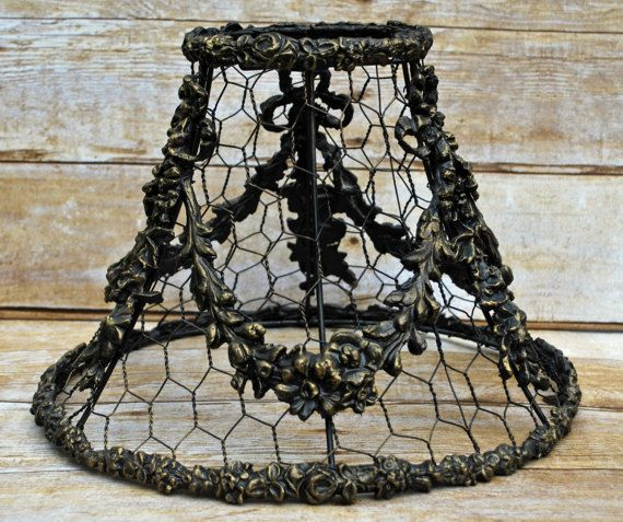 Barbola french country chicken wire lamp shade antiqued gold barbola french country chicken wire lamp shade antiqued gold shabby chic cottage chic romantic home ornate paris apartment chicken wire keyboard keysfo Gallery
