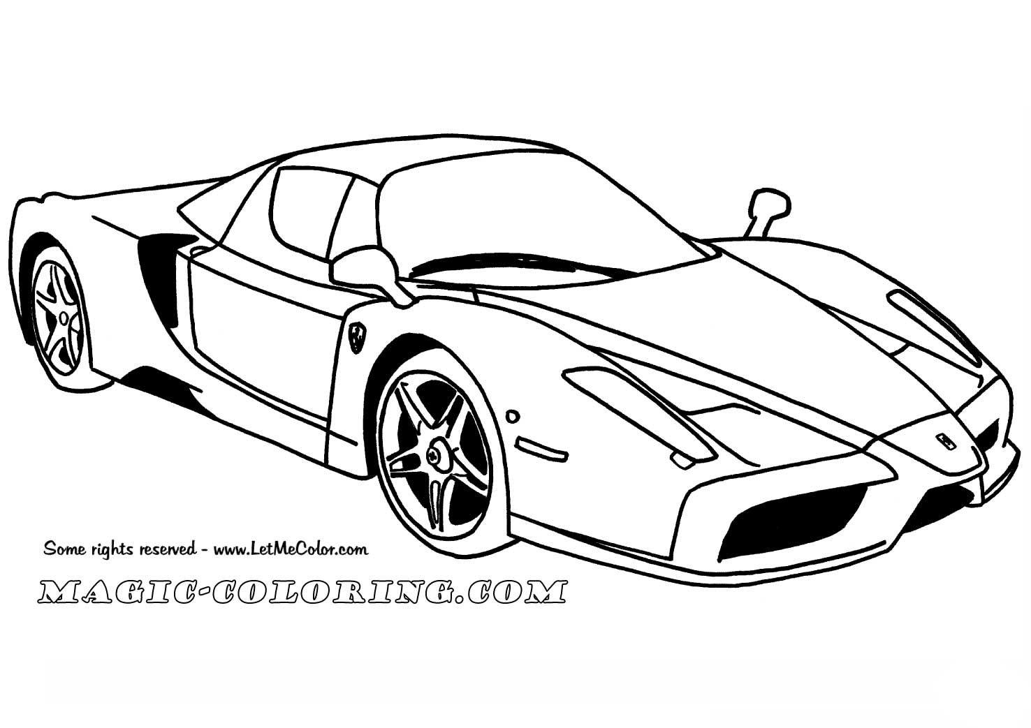 Ferrari Enzo Car Coloring Page Race Car Coloring Pages Cars Coloring Pages Sports Coloring Pages