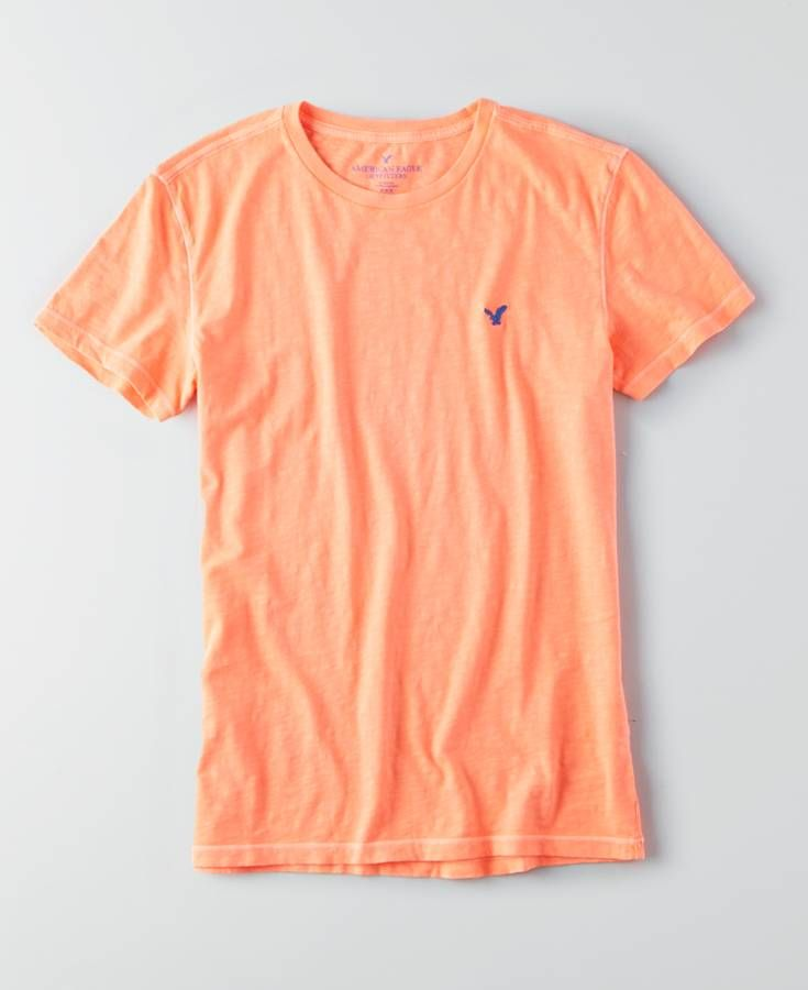 AEO Legend Crew T-Shirt, Men's, Light Neon Red