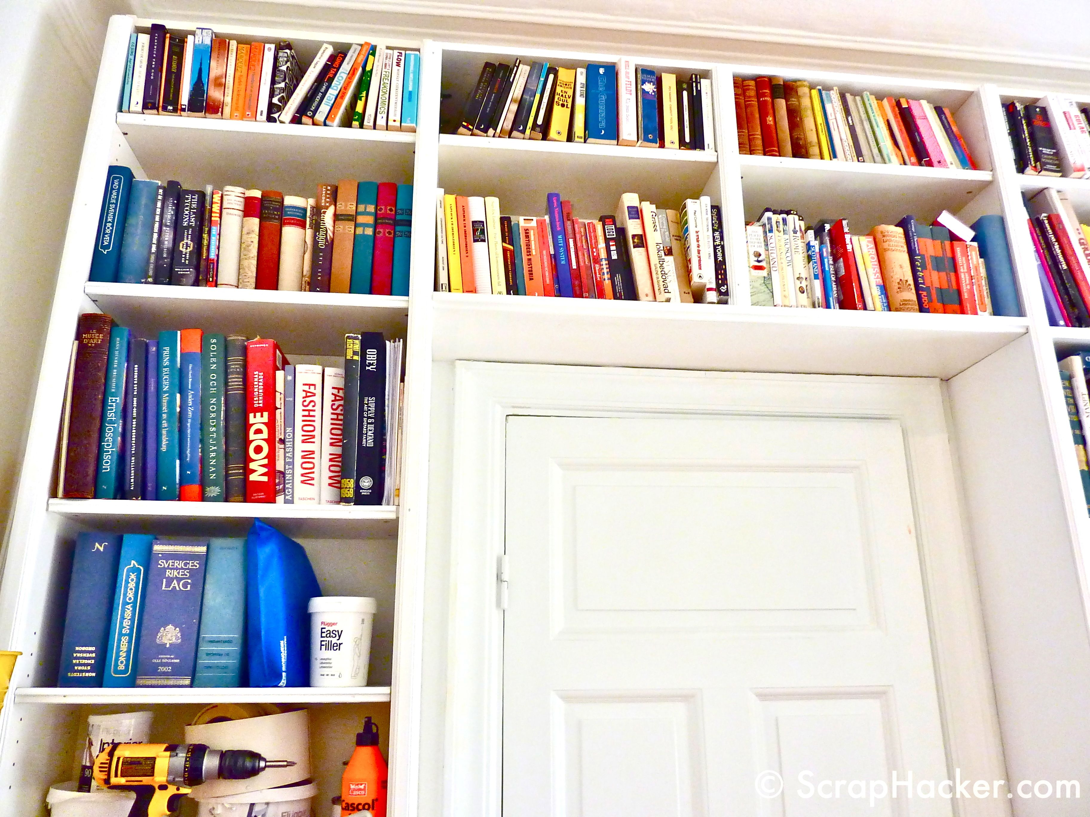 ikea hack billy bookshelves storage b cher buch wand. Black Bedroom Furniture Sets. Home Design Ideas