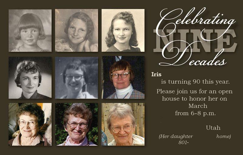 90 Year Old Birthday Invitations