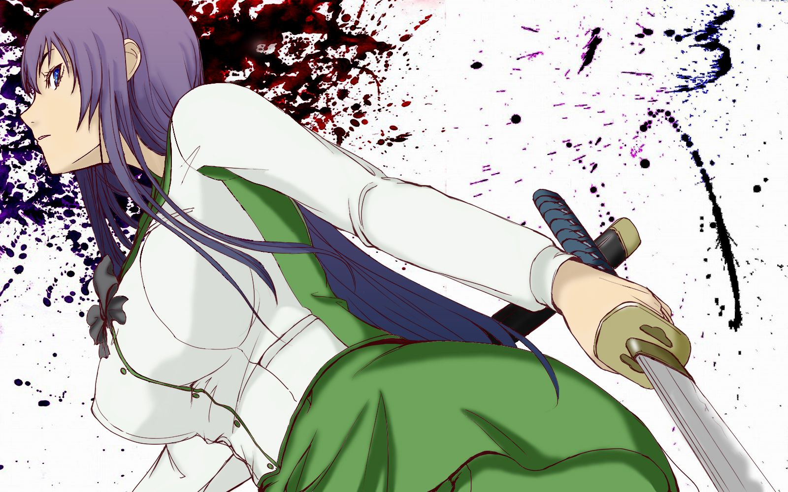 Anime Highschool Of The Dead Saeko Busujima Wallpaper