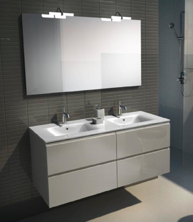 Es un mueble para el cuarto de ba o de color blanco de - Ceramica para banos ...