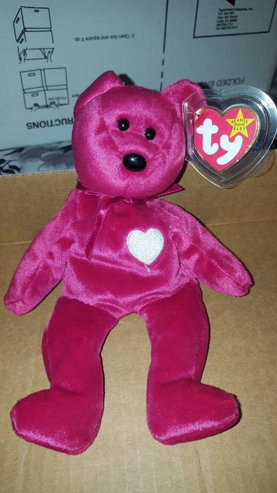 be2d1f797b715f Rare retired Ty original Valentina beanie baby with errors ...