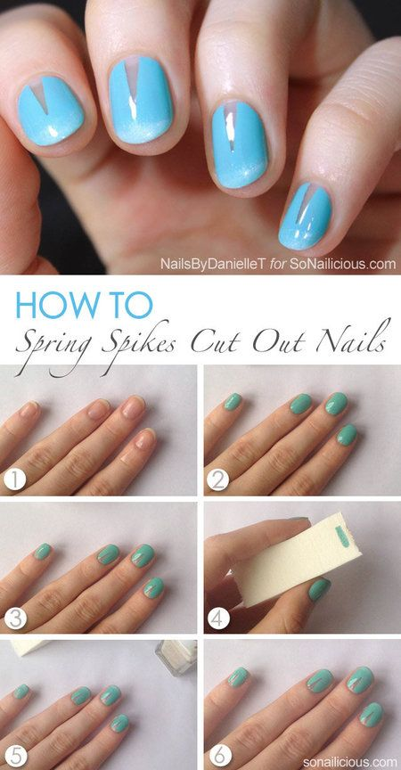 Simple Spring Spikes Nail Pictorial! use tape   Re-Pin Nail Exchange ...