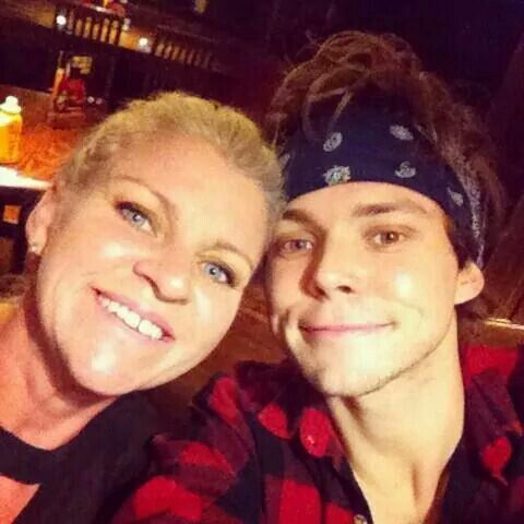Photo of Ashton Irwin & his  Mother  Anne Marie Irwin