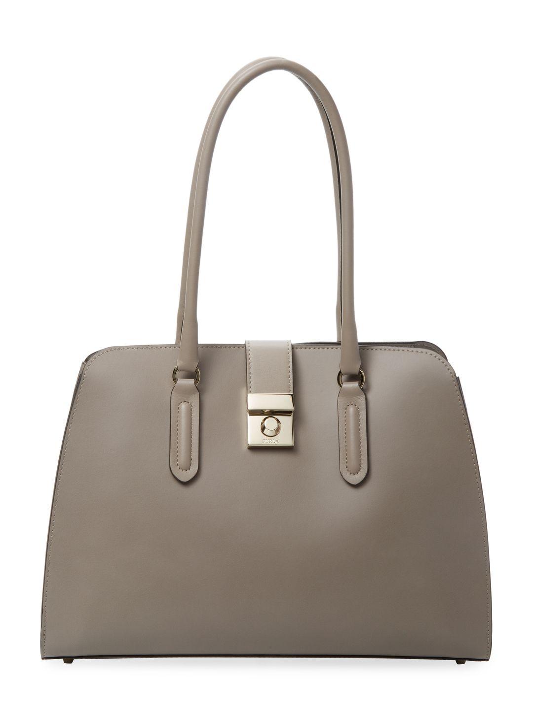 8e61e2c7a41ad FURLA WOMEN S PEGGY LEATHER SATCHEL - CREAM TAN.  furla  bags  leather   hand bags  nylon  satchel