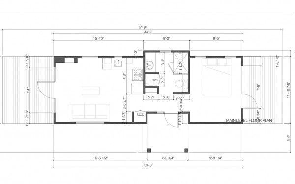 Floorplan Of The Park Model Vacation Rental In Jackson Hole Wyoming