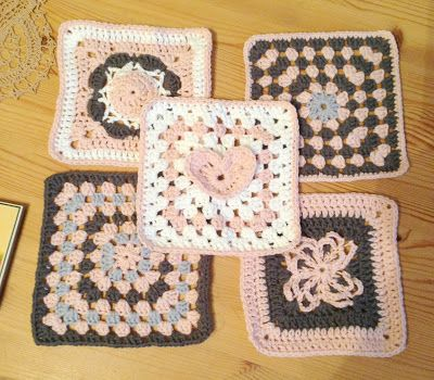 "Kandipandis Pad - 6"" crochet squares"