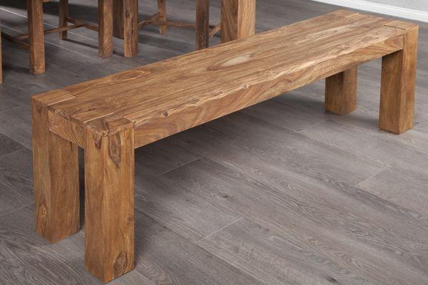Exceptionnel Banc en bois massif Sheesham Vichy 140 cm | Bancs en bois, Bois  TS25