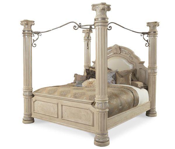AI-N53000K-03 AICO Monte Carlo II Silver Pearl King Canopy Bed $3077.00  sc 1 st  Pinterest & AI-N53000K-03 AICO Monte Carlo II Silver Pearl King Canopy Bed ...