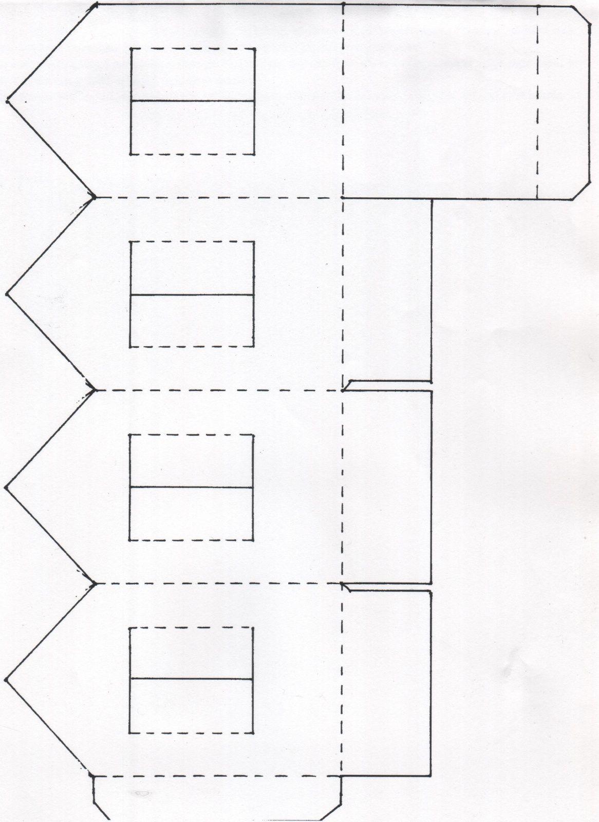 Une maison photophore en papier emballage papier no l pinterest papier a imprimer et - Maison papier a decouper ...