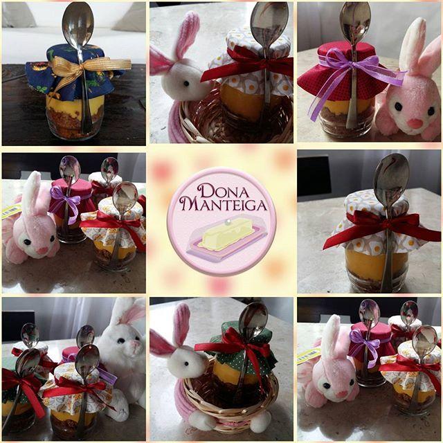 Já sabe o que dar na Páscoa?  Nossos Bolos de Pote são com Bolo de chocolate e brigadeiro de cenoura. #easter #páscoa #bolodepote #bolonopote #cakepot @donamanteiga #donamanteiga #danusapenna #bolos&delicias www.donamanteiga.com.br
