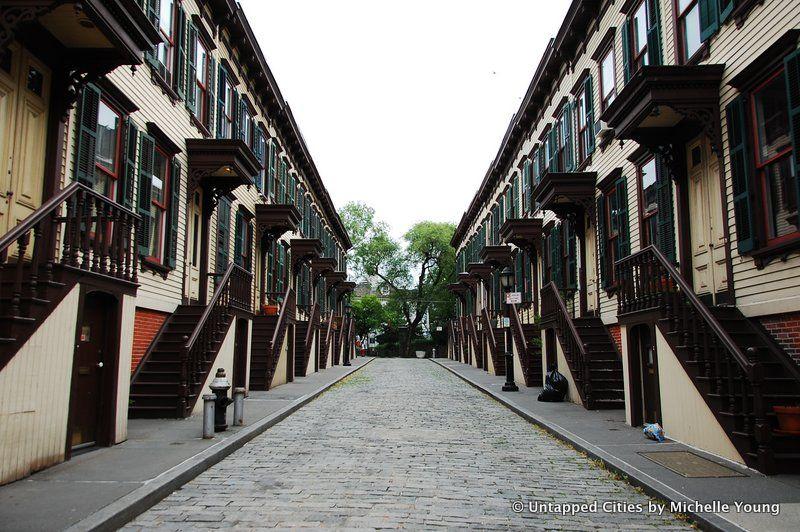Sylvan Terrace-Washington Heights-Moris Jumel Mansion-Film Locations