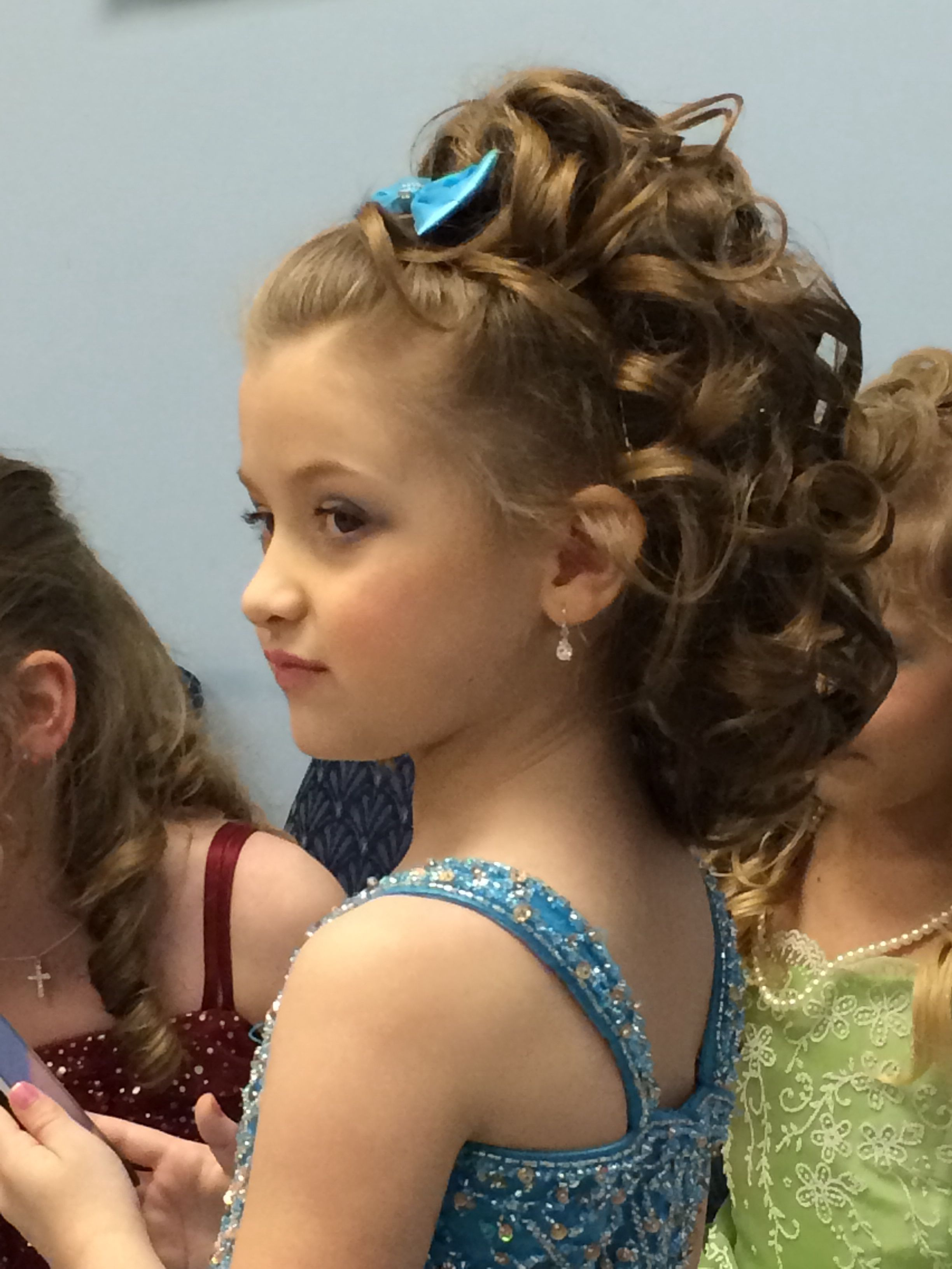Pageant hair  Kids hairstyles, Little girl curly hair, Hair styles