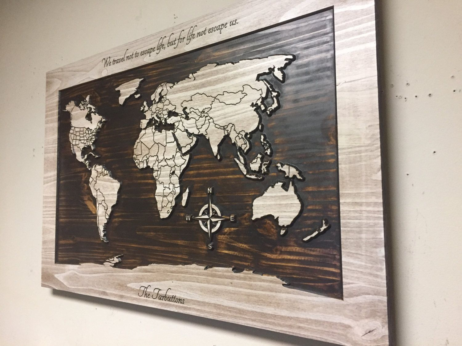 Wood Wall Art World Map Wall Art Carved Wooden World Map With