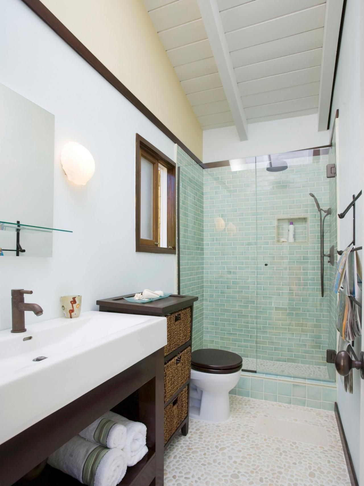 Three-Quarter Bathroom  Narrow bathroom designs, Bathroom design