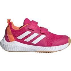 Adidas Mädchen Hallenturnschuhe FortaGym Cf, Größe 28 in Pink/Orange/Weiß, Größe 28 in Pink/Orange/W