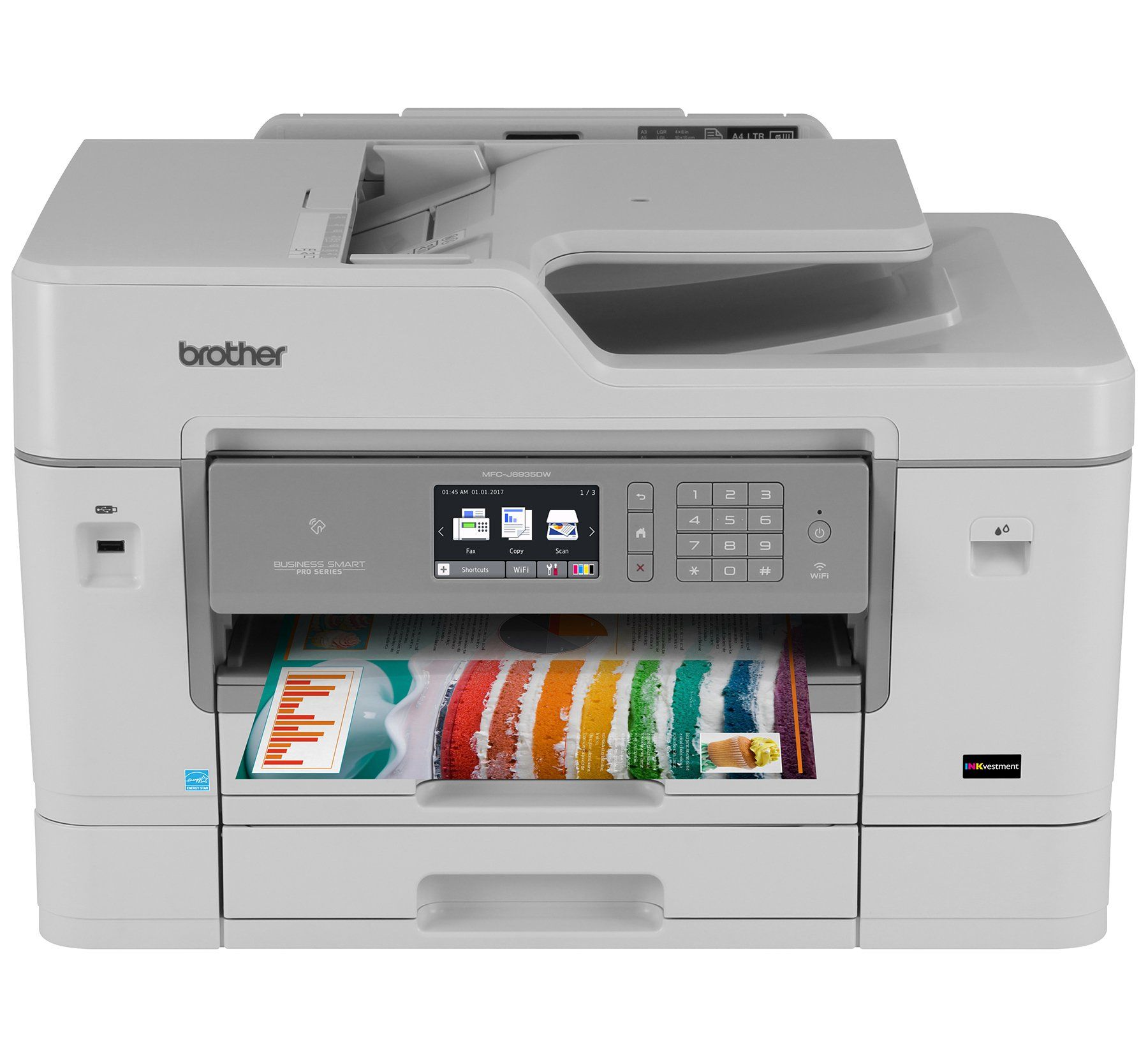 Color printer wireless - Brother Printer Mfcj6935dw Wireless Color Printer With Scanner Copier Fax