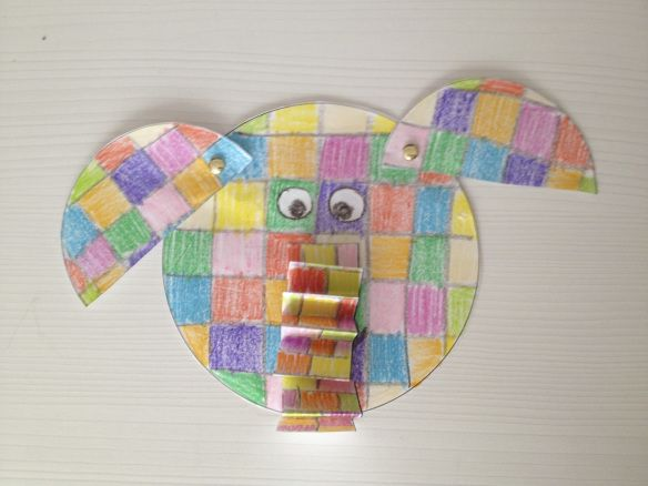 Elmer the Elephant craft idea. It's really simple! Just color, cut  fasten/glue! :)