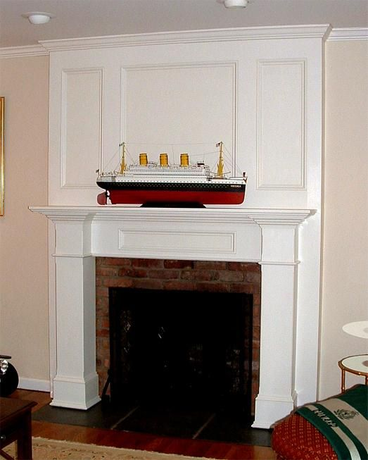 Stone Fireplaces With White Wood Surround Custom Fireplace Surrounds Nj Brick Mantles