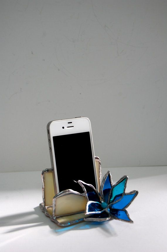 Ivory Stained Glass iPhone Stand Smartphone Stand by SophieRR ...
