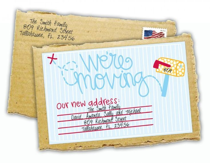 Tell Everyone You Ve Moved With These Stylish Change Of Address Cards Change Of Address Cards Address Card Change Of Address