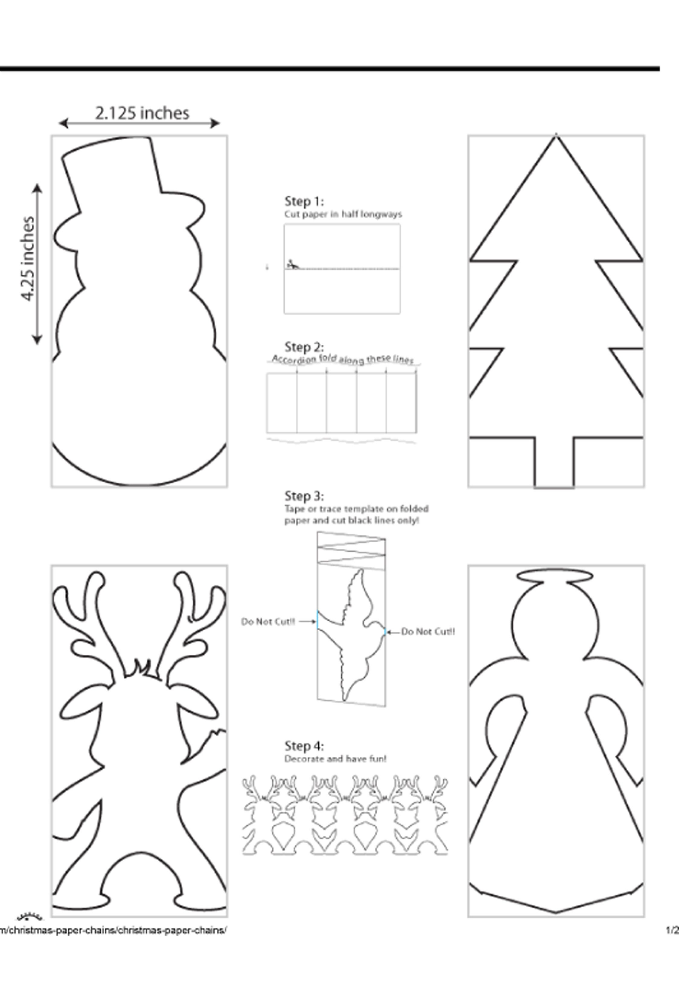 Old Fashioned Christmas Paper Chains Chain Template Craft Jr