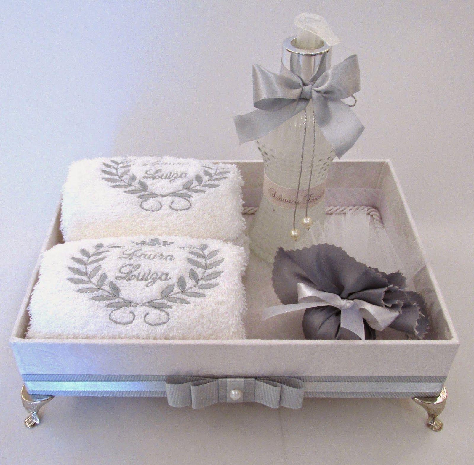 Kit Banheiro Casamento Luxo : Divina caixa kit lavabo para festa de batizado