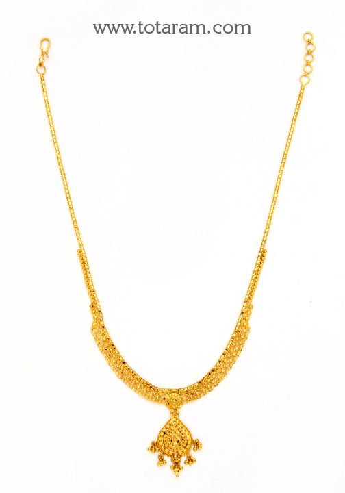 22K Gold Necklace Traditional Gold Necklaces Pinterest Gold