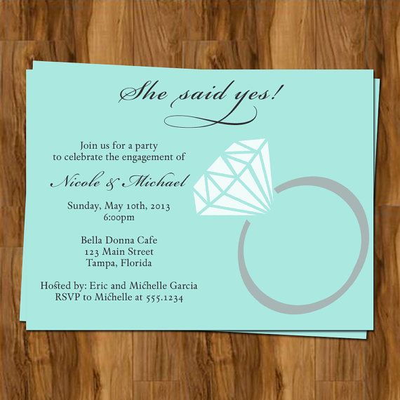Engagement Party Invitations She Said Yes Invites Set of 10
