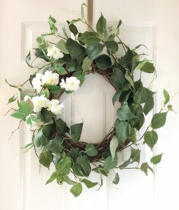 Photo of Front Door Wreaths ~ Front Door Wreaths ~ Spring Wreath ~ Cherry Blossom Wreath ~ Year Round Wreath ~ Front Door Decor ~ Spring Wreaths ~ Wreaths