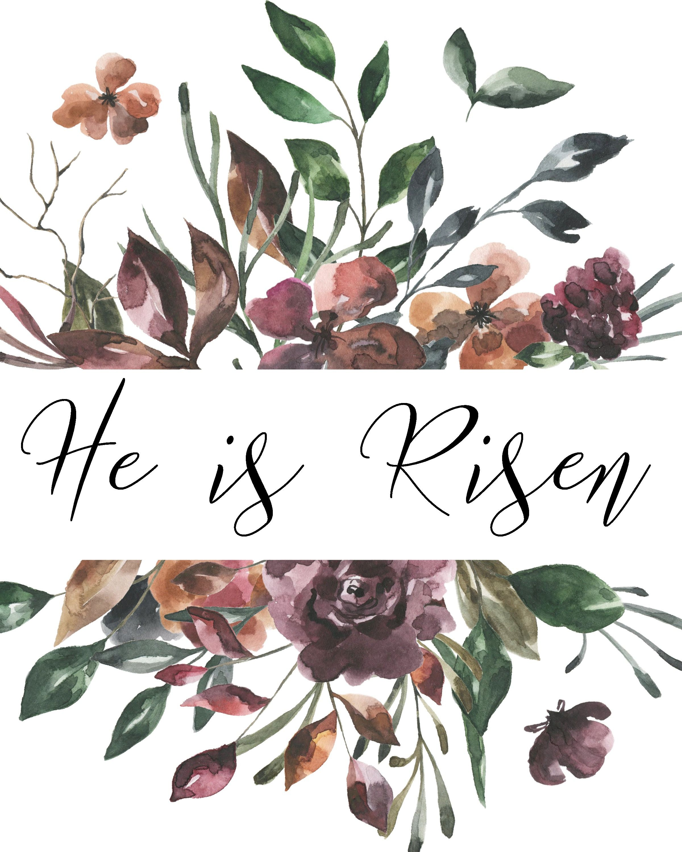 He is Risen Easter Print. Easter Print. Easter Wall Art ...