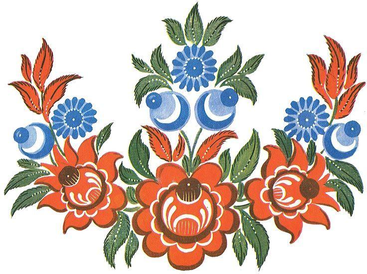 Русский орнамент картинки цветы, доброе утро
