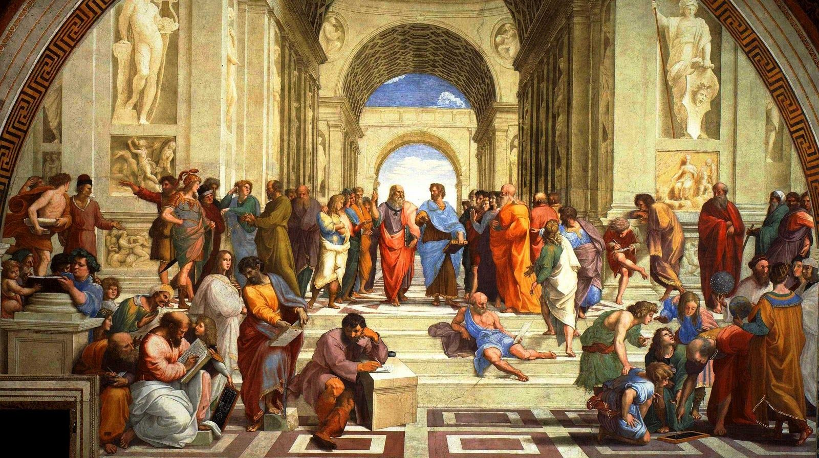 The School Of Athens Raphael Fuesco Vatican City Rome Italy Italian Renaissance