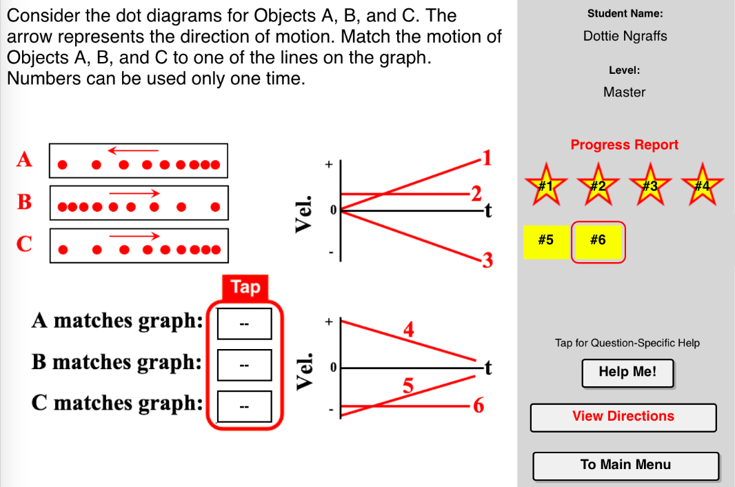 Dots And Graphs Concept Builder This Interactive Exercise Challenges The Learner To Associate The Motion Of An Object Wit Graphing Dots This Or That Questions