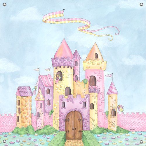 Fairy castle wall mural wall sticker outlet for the for Castle kids room