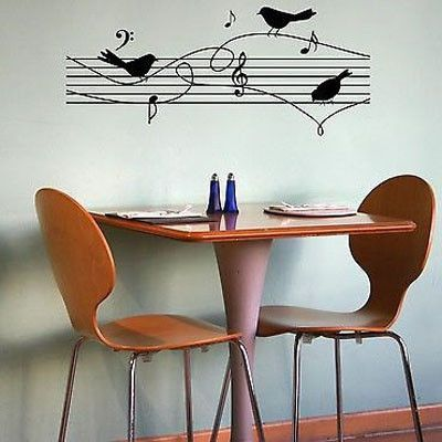 Birds on Music Notes