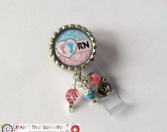 Baby Feet - Retractable Badge Reel - Nurse Badge Clip - Nicu Id Holder -  Womens Services ID Pull - Specialty ID Holder - Pediatrics ID Clip 7a59bb3a48