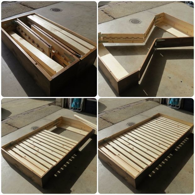 Diy Bed In A Box Plans Box Bed Diy Bed Diy Wood Projects