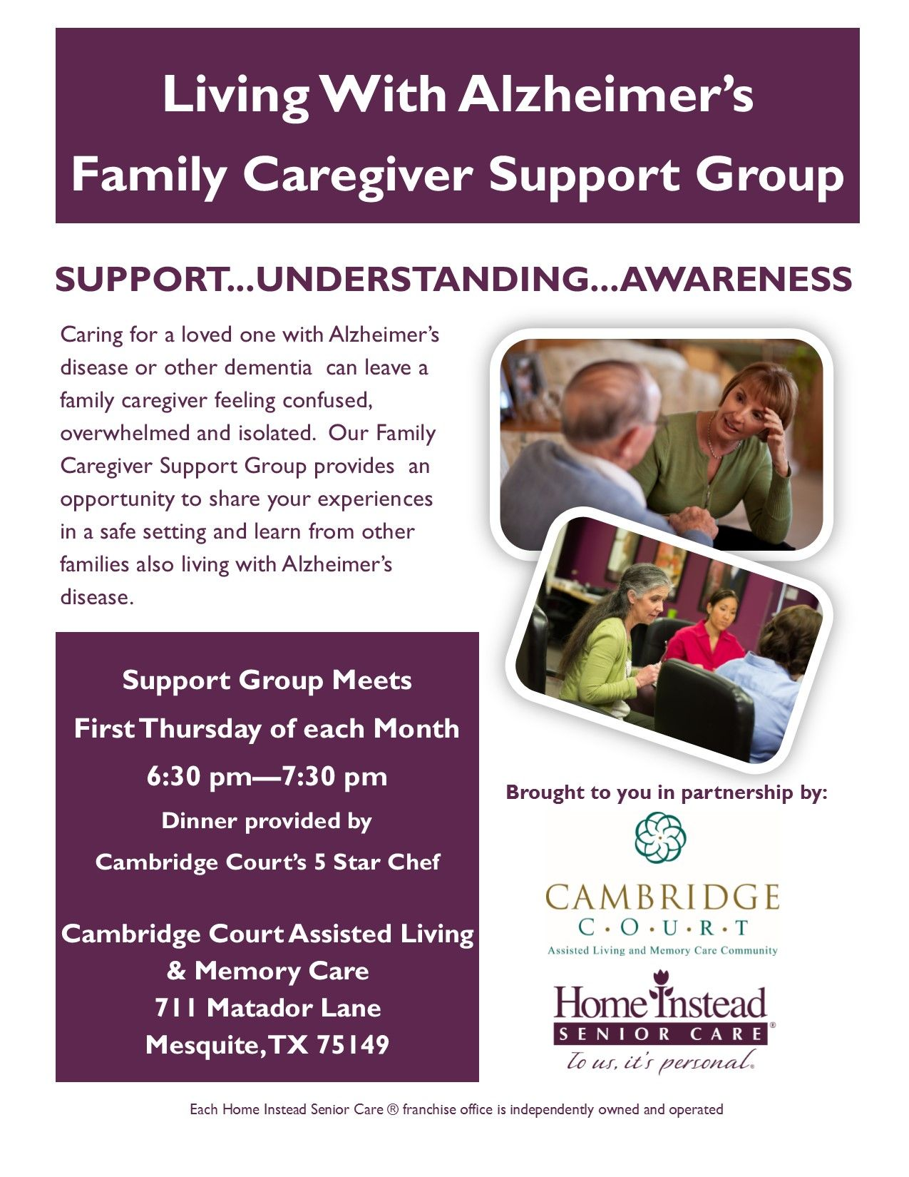 Alzheimer S Family Caregiver Support Group In Mesquite Tx On Thursday November 3rd Caregiver Support Caregiver Support Group Support Group