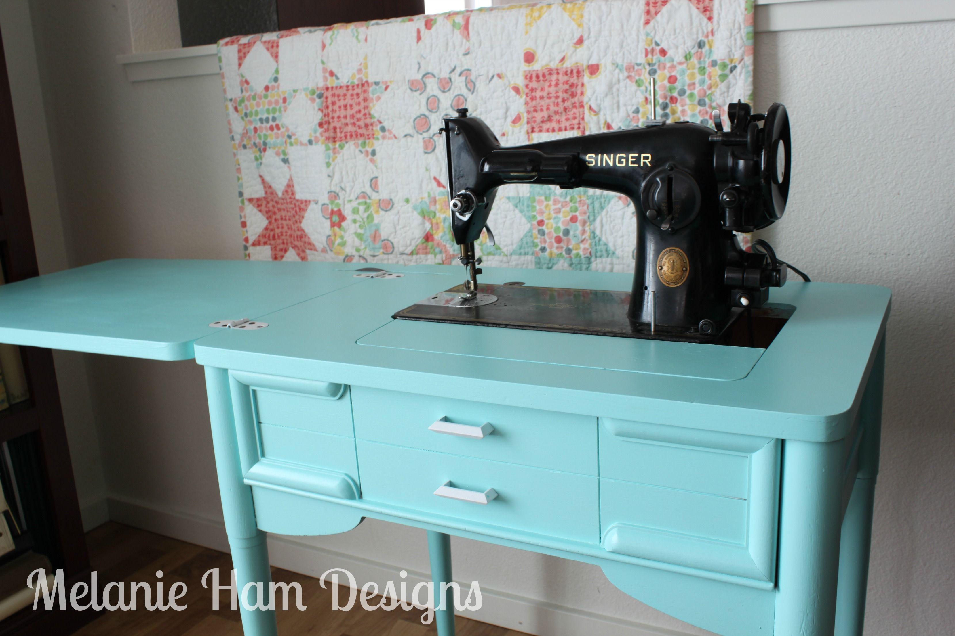 Sewing Desk After Makeover Diy Craiglist Refinish