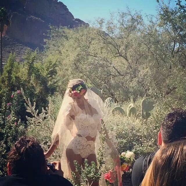 Exotic bridal wear