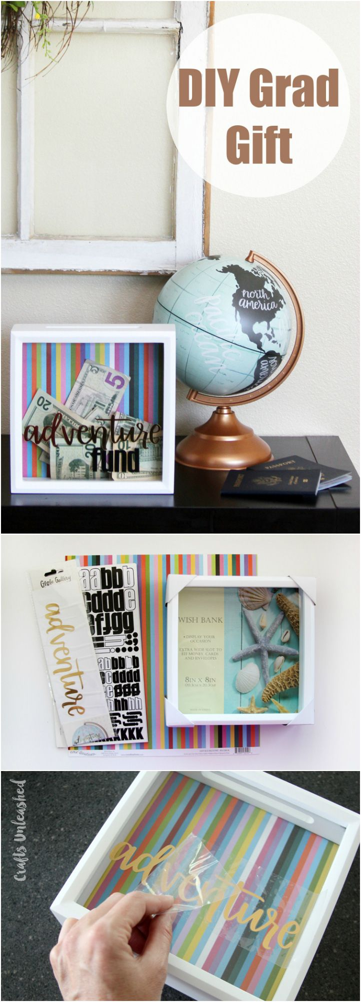 Graduation Gift Diy Adventure Fund Box Consumer Crafts