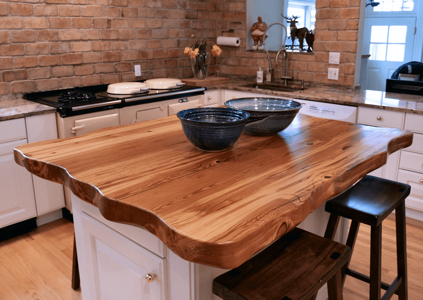 Best Countertop For Small Kitchen Reclaimed Wood Countertop