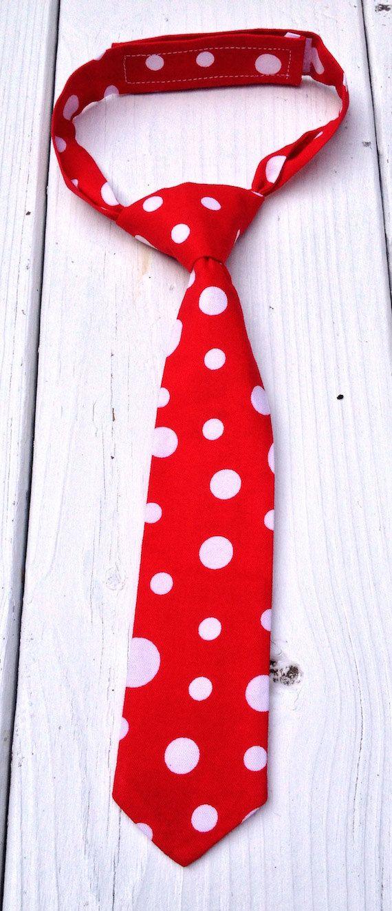 boys red polka dot neck tie boys christmas tie boys red tie 1st