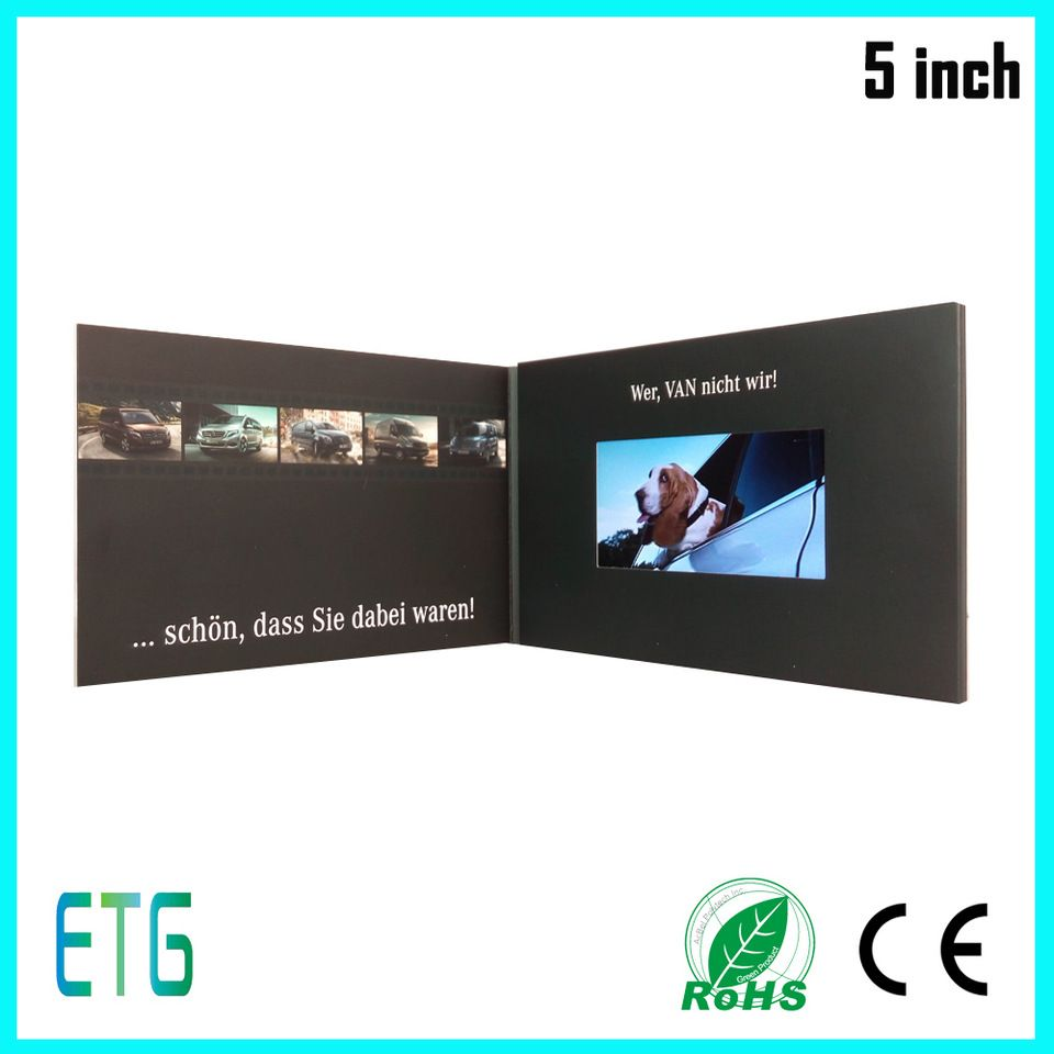 Customized 2428 43 5 7 10 Lcd Digital Video Greeting