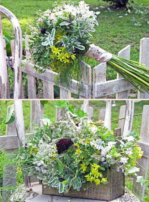 Wild Flower and herb arrangements