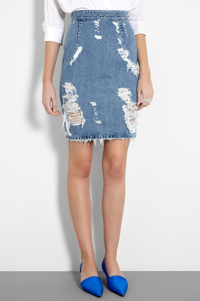 Distressed Jean Skirts - Dress Ala