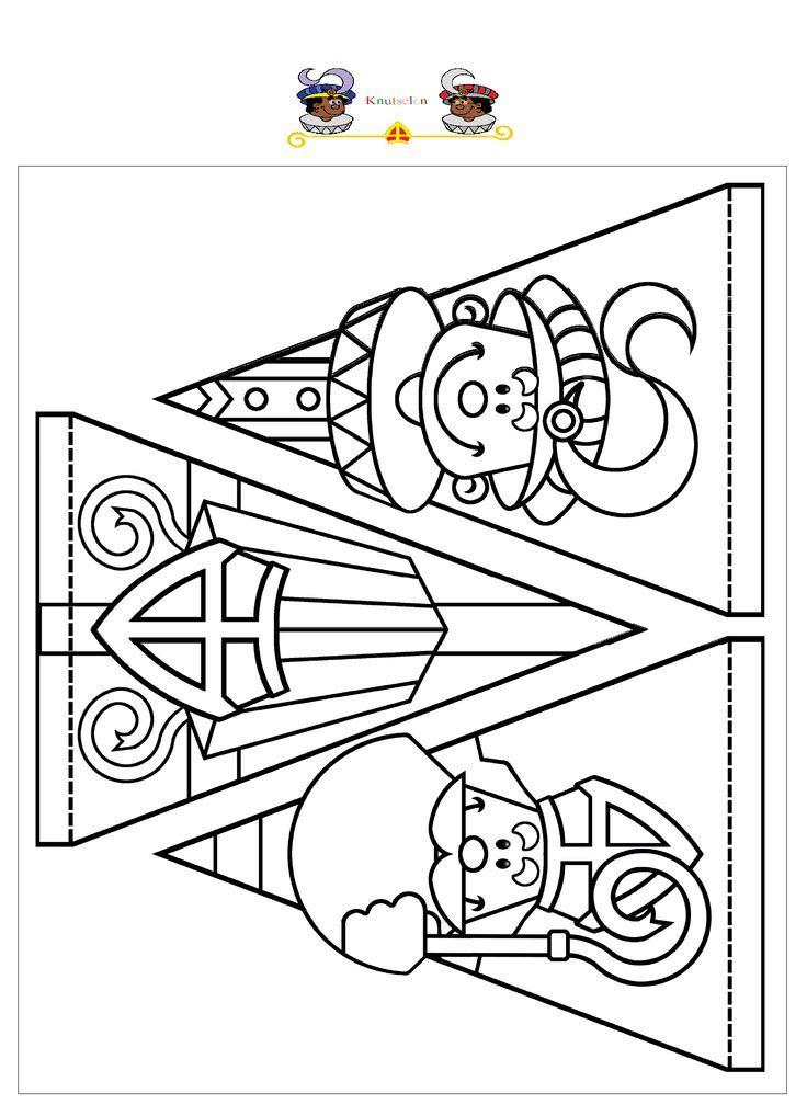 Kleurplaten Sinterklaas Vlaggetjes.Sinterklaas Vlaggetjes Sint Nikolaus Kindergarten Weihnachten